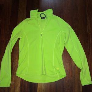Lime Green Fleece Pullover